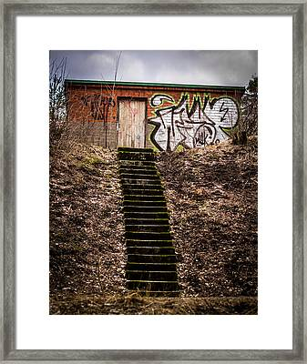 Framed Print featuring the photograph Tagstairs by Matti Ollikainen