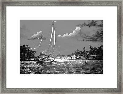 Tahitian Moon Framed Print by Joseph   Ruff