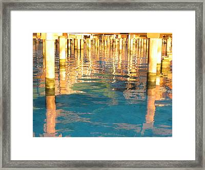 Tahitian Reflection Framed Print by Mark Norman
