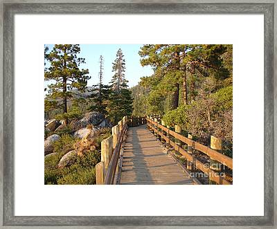 Tahoe Bridge Framed Print by Silvie Kendall