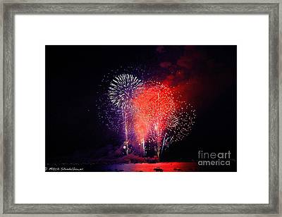 Framed Print featuring the photograph Tahoe Fireworks. by Mitch Shindelbower