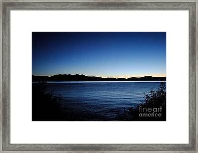Tahoe Sunset  Framed Print by Sean McGuire