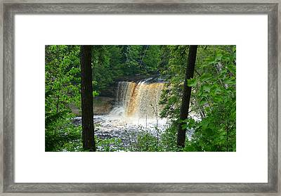 Tahquamenon Falls Of Michigan Framed Print by Michael Carrothers