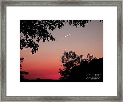 Framed Print featuring the photograph Tails Of Light At Sunset by Christian Mattison
