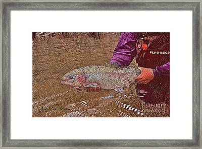 Tailwater Bow Framed Print