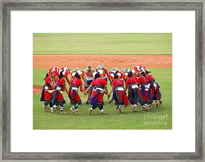 Taiwan Native Dance Performance Framed Print by Yali Shi