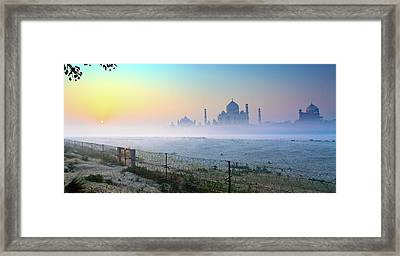 Taj At Dawn Framed Print