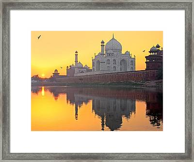 Taj Mahal From Other Side Framed Print