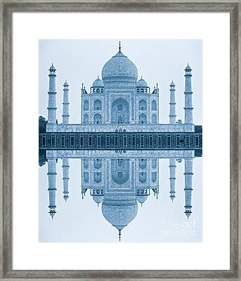 Framed Print featuring the photograph Taj Mahal by Luciano Mortula
