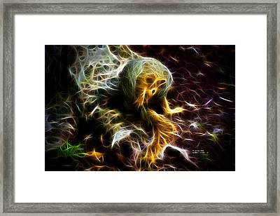 Take A Bow - Fractal - Robbie The Squirrel - Fractal Framed Print