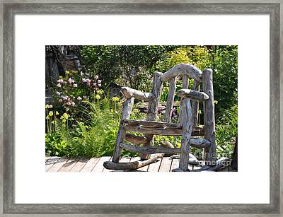 Take A Seat Framed Print by Tanya  Searcy