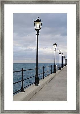 Take A Stroll With Me Framed Print by Luke Moore