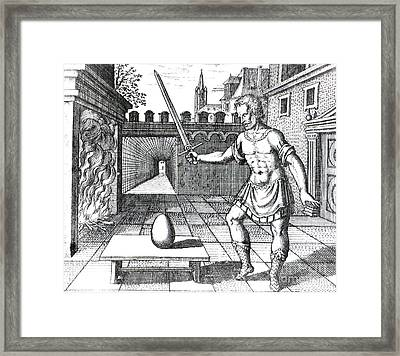 Take An Egg And Smite It With A Fiery Framed Print by Science Source
