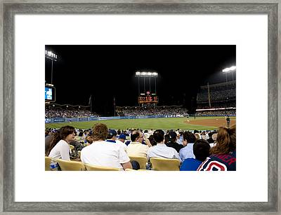 Take Me Out To The Game Framed Print by Malania Hammer