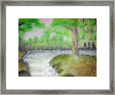 Framed Print featuring the painting Take Me To The River by Carol Duarte