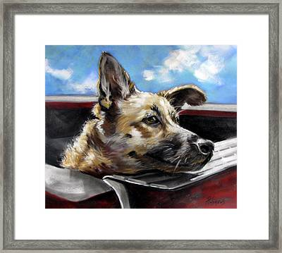 Framed Print featuring the painting Take Me Too Please by Rae Andrews