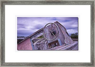 Framed Print featuring the digital art Take The Wheel by Kevin Chippindall