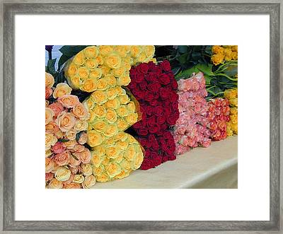 Take Time To Smell The Roses Framed Print by Jill Pro