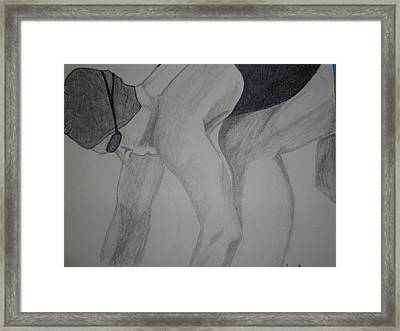 Take Your Mark Framed Print by Jamie Mah