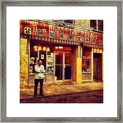 Taking A Break In Chinatown Framed Print