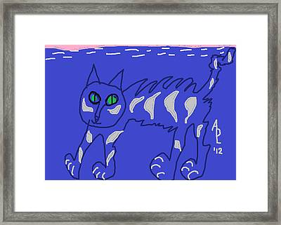 Framed Print featuring the painting Taking Cindy Back by Anita Dale Livaditis