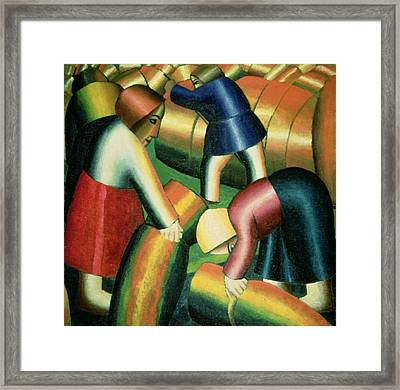 Taking In The Rye Framed Print by Kazimir Severinovich Malevich