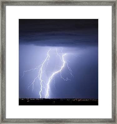 Taking It To The Ground Framed Print