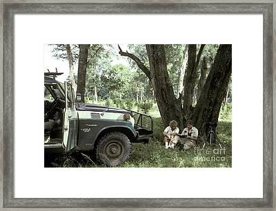 Taking Notes In Kenya, East Africa Framed Print
