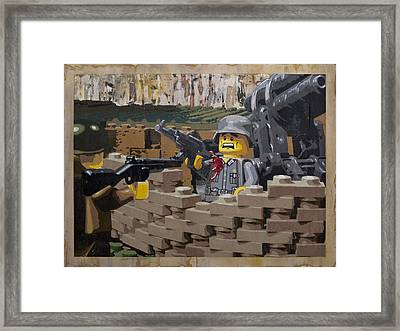 Taking The Bunker Framed Print by Josh Bernstein