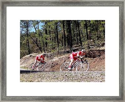 Taking The Curve Framed Print