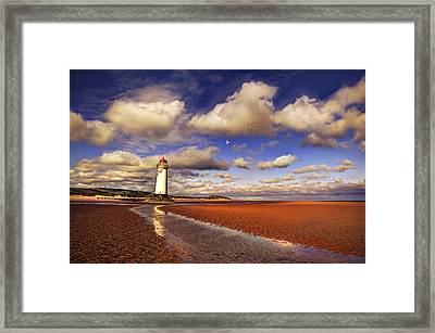 Talacre Lighthouse Framed Print by Mal Bray