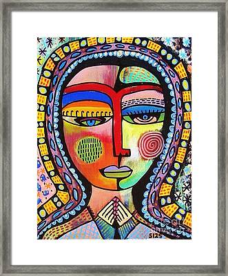 -talavera Virgin Of Guadalupe Enlightenment Framed Print