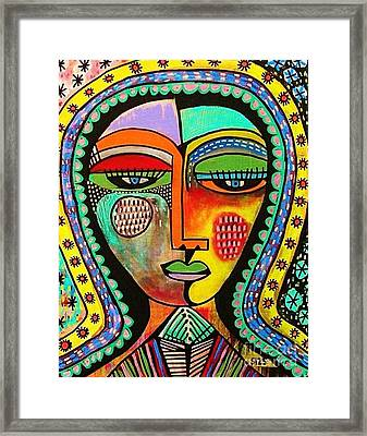 -talavera Virgin Of Guadalupe Blessings Framed Print by Sandra Silberzweig