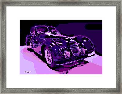 Talbot Lago Framed Print by George Pedro