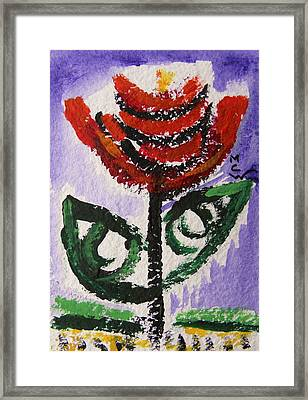 Tali-flowers From The Flower Patch Framed Print by Mary Carol Williams