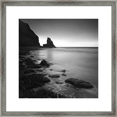 Talisker Rock Framed Print by Nina Papiorek