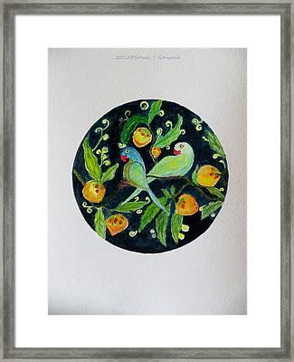 Talkative Parakeets Framed Print by Sonali Gangane