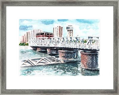Talkha Bridge Framed Print by Muna Abdurrahman