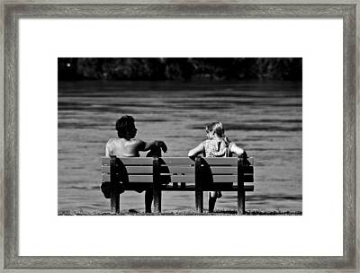 Talking Framed Print by James Bull