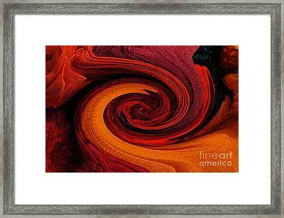 Talking Textiles Framed Print by Lyn Baker