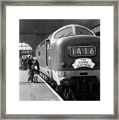 Talking To Driver Framed Print by John Drysdale