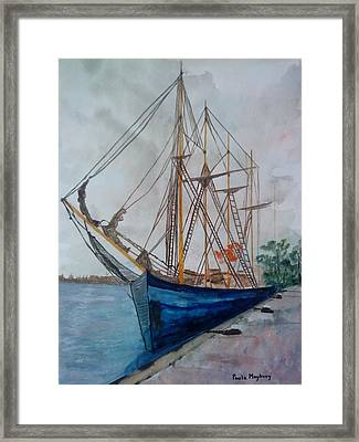 Tall Pirate Ship Framed Print