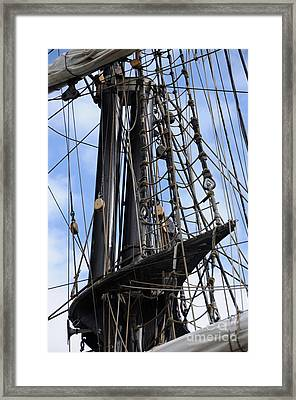 Tall Ship Mast Framed Print