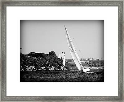 Framed Print featuring the photograph Tall Ship Race 1 by Pedro Cardona