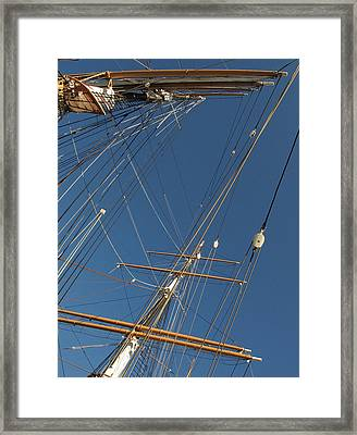 Tall Ship Rigging 2 Framed Print by Winston  Wetteland