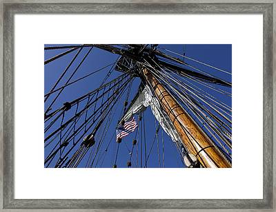 Tall Ship Rigging Framed Print by Garry Gay
