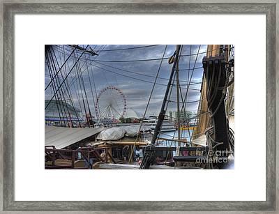 Tall Ships At Navy Pier Framed Print by David Bearden