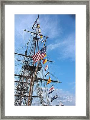Tall Ships Banners Framed Print by David Bearden