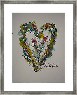 Tall Tell Heart In Love Framed Print by Edward Wolverton