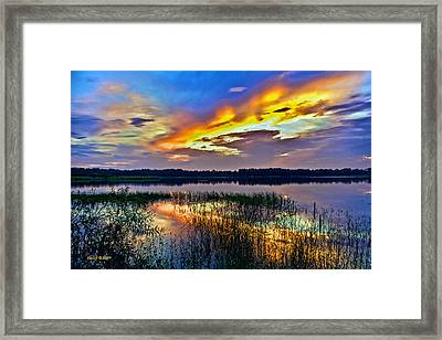Talmadge Lake Florida Sunset Framed Print
